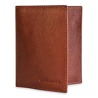 Brunhide Mens Slim Real Leather Trifold Wallet Genuine Gents Boxed 212-300