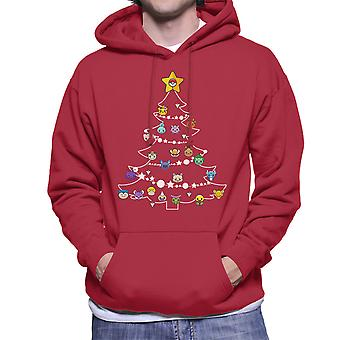 Pokemon Bulbs Christmas Tree Men's Hooded Sweatshirt