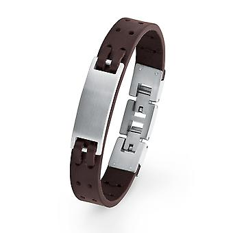 s.Oliver jewel children and adolescents bracelet ID leather stainless steel 2018529