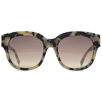 Stella McCartney Falabella Brow Detail Square Sunglasses In Beige Havana