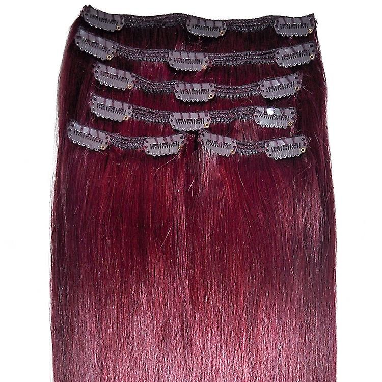 99j Mahogany Red Clip In Hair Extensions Full Head Fruugo