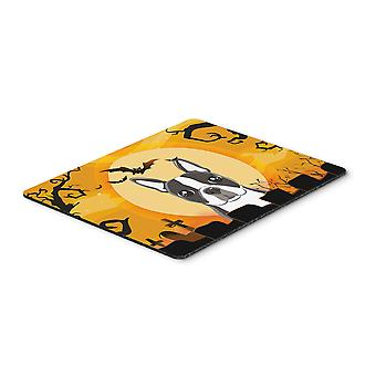 Halloween Boston Terrier Mouse Pad, Hot Pad or Trivet