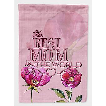 Carolines Treasures  BB5418GF The Best Mom in the World Flag Garden Size