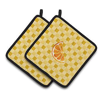 Plasterki pomarańczy na parę Basketweave łapki