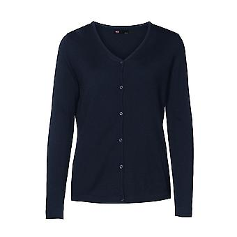 ID Womens/Ladies Fitted Button Up Cardigan