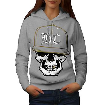 Skull Swag Gamer Women GreyHoodie | Wellcoda