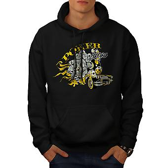 Poker Skull Car Gamble Men BlackHoodie | Wellcoda