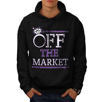 Korting op de markt mannen-BlackHoodie | Wellcoda