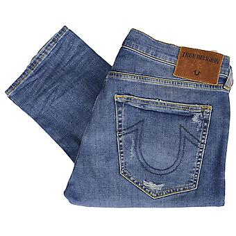 True Religion Rocco No Flap Relaxed Skinny Broken Twill Jeans