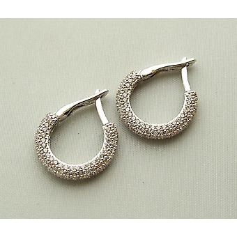 Christian white gold cubic zirconia earrings