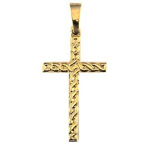 9ct Gold 38x23mm knot embossed Celtic Cross