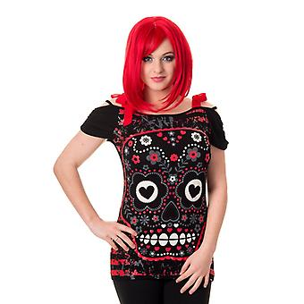 Banned - SEE NO EVIL SUGAR SKULL - Womens T-Shirt