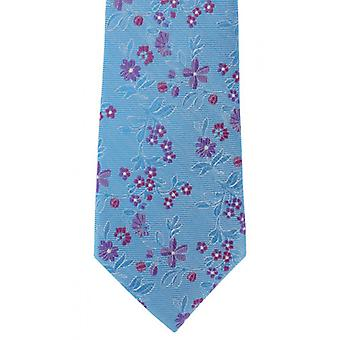Michelsons of London Spring Floral Silk Tie - Teal