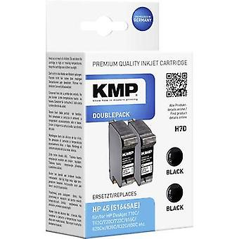KMP Ink replaced HP 45 Compatible Pack of 2 Black