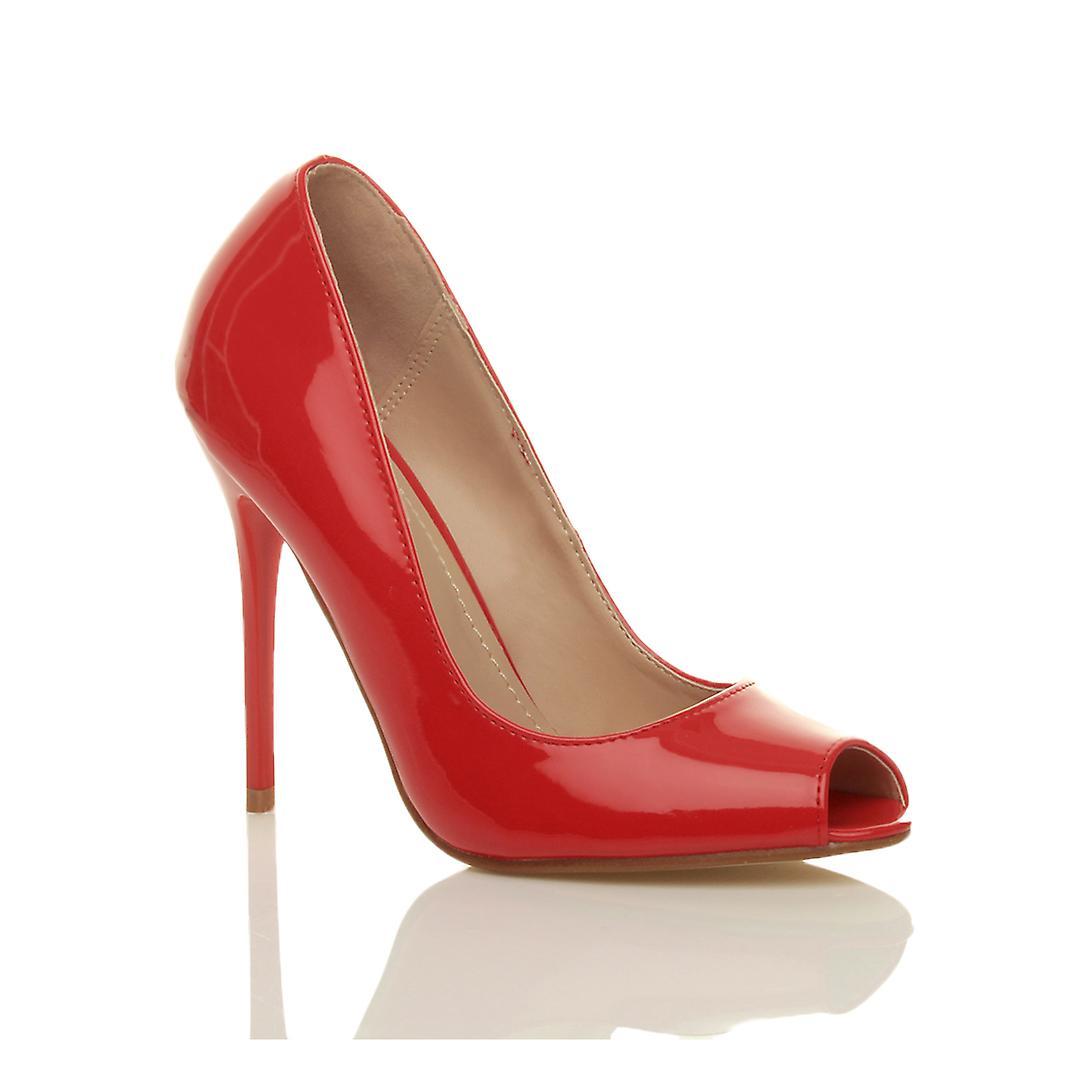 Lavorare prom partito di Ajvani womens tacchi alti sandali scarpe Corte di pompe peep toe
