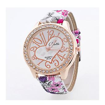 Luxury Rose Gold Floral Heart Watch Love Time Funky Flower