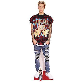 Justin Bieber dratt Jeans stil Lifesize papp åpning / Standee
