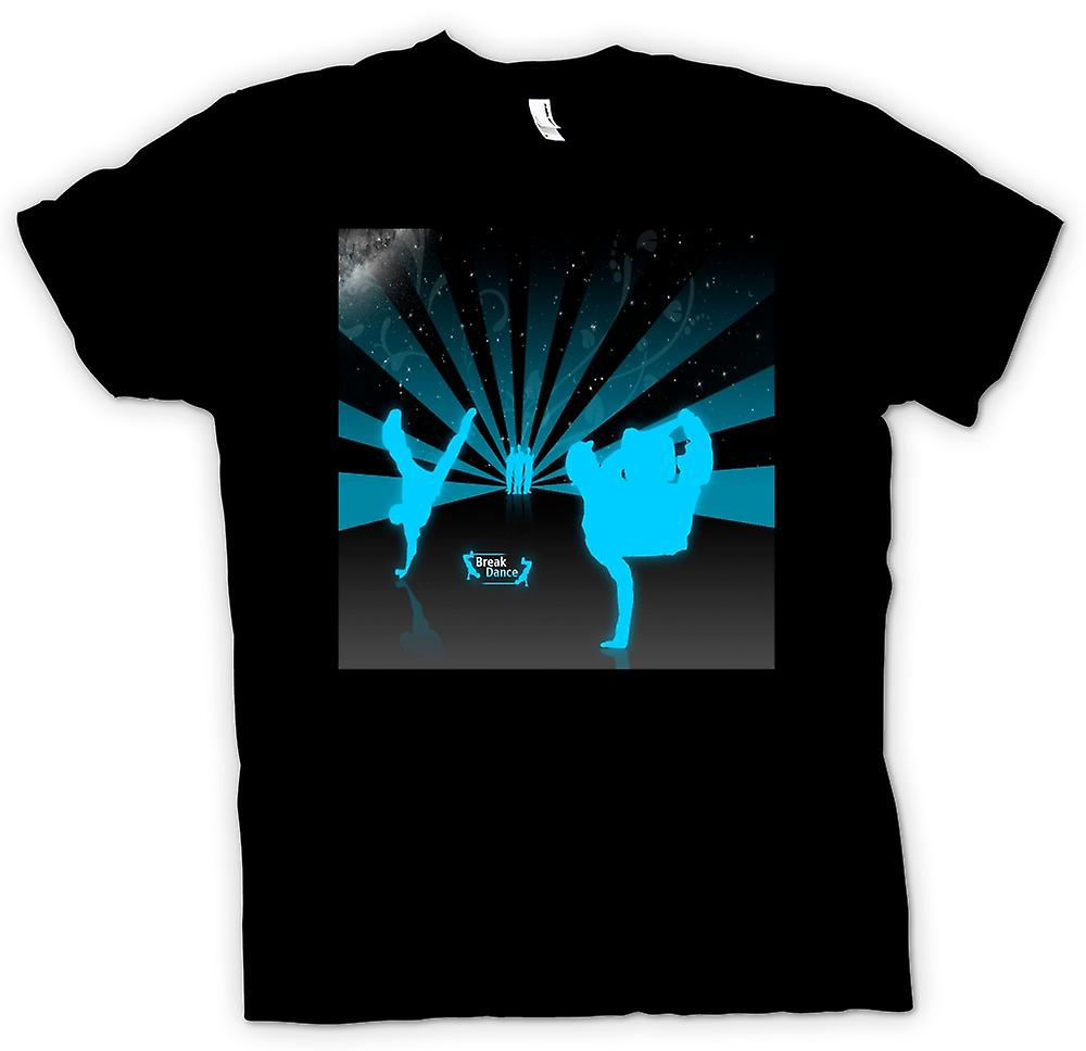 Mens t-shirt - Break Dance Street blu - Design