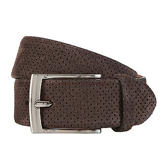 OTTO KERN belts men's belts leather belt Brown 1900