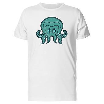 Creepy Blue Octopus Tee Men's -Image by Shutterstock
