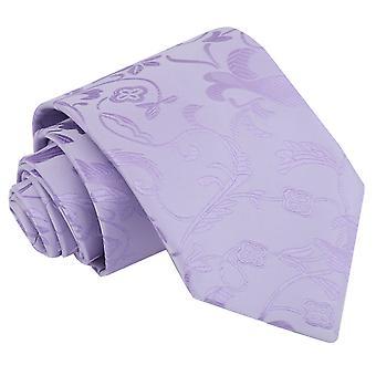 Liliowy kwiatowy klasyczny krawat