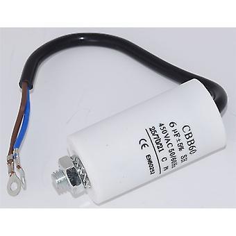 Universal 6UF kondensator med 19cm kabel anslutningar