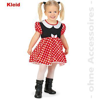 Cimici i bambini Minniekleid polka dot dress costume del fumetto del mouse mini costume bambini