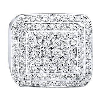 Sterling 925 Silver pave ring - DOME