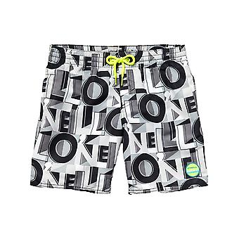 ONeill Black Aop Stack Kids Boardshorts