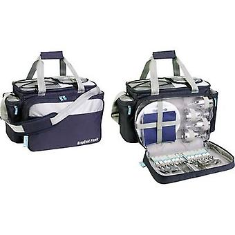 Ezetil Travel in Style 34 Picnic Bag Party cooler Passive Navy, Silver 34 l