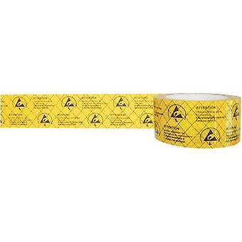 ESD tape 1 Rolls Yellow, Black (L x W) 50 m x 50 mm BJZ