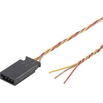 Servo leiden [1 x Futaba plug - 1 x Sony Xperia] 300 mm 0.08 mm² twisted Modelcraft