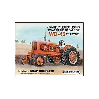 Allis Chalmers Wd45 traktor metall tegn