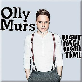 Olly Murs Right Place Right Time Steel Fridge Magnet 75Mm Square