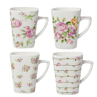 Clayre & EEF set of 4 romantic porcelain coffee cups cups shabby style tea cup