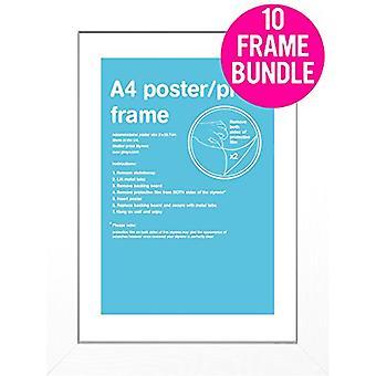 GB affiches 10 A4 blanc MDF affiches cadres 29,7 x 21cm Bundle