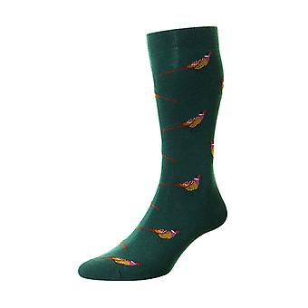 Berrington men's combed cotton dress sock in conifer | By Scott-Nichol