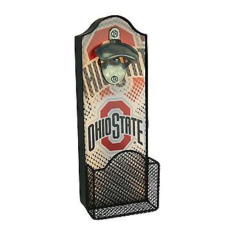 Ohio State University Buckeyes LED Lighted Bottle Opener With Cap Catcher