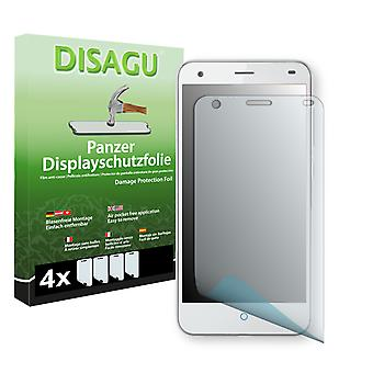 ZTE blade S6 screen protector - Disagu tank protector protector (deliberately smaller than the display, as this is arched)