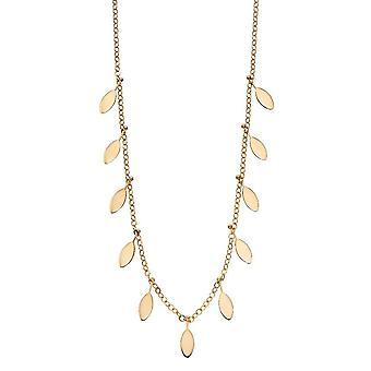 Elements Gold Leaf Charms Necklace - Gold