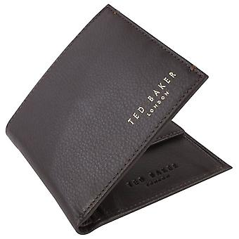 Ted Baker Harvys Bifold y moneda monedero - Chocolate