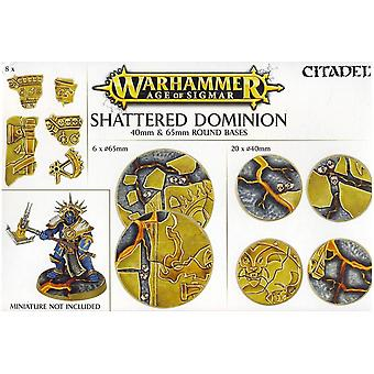 Games Workshop Warhammer Age of Sigmar Shattered Dominion Round Bases 40/65 mm