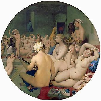 Le Bain turc, Jean-Auguste Dominique Ingres, 50x50cm