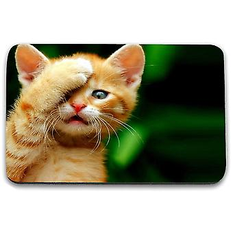 i-Tronixs - Cat Printed Design Non-Slip Rectangular Mouse Mat for Office / Home / Gaming - 6