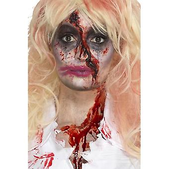 Zombie Nurse Make-Up Kit, Multi-Coloured, with Face Paint, Blood, Hat & Applicators