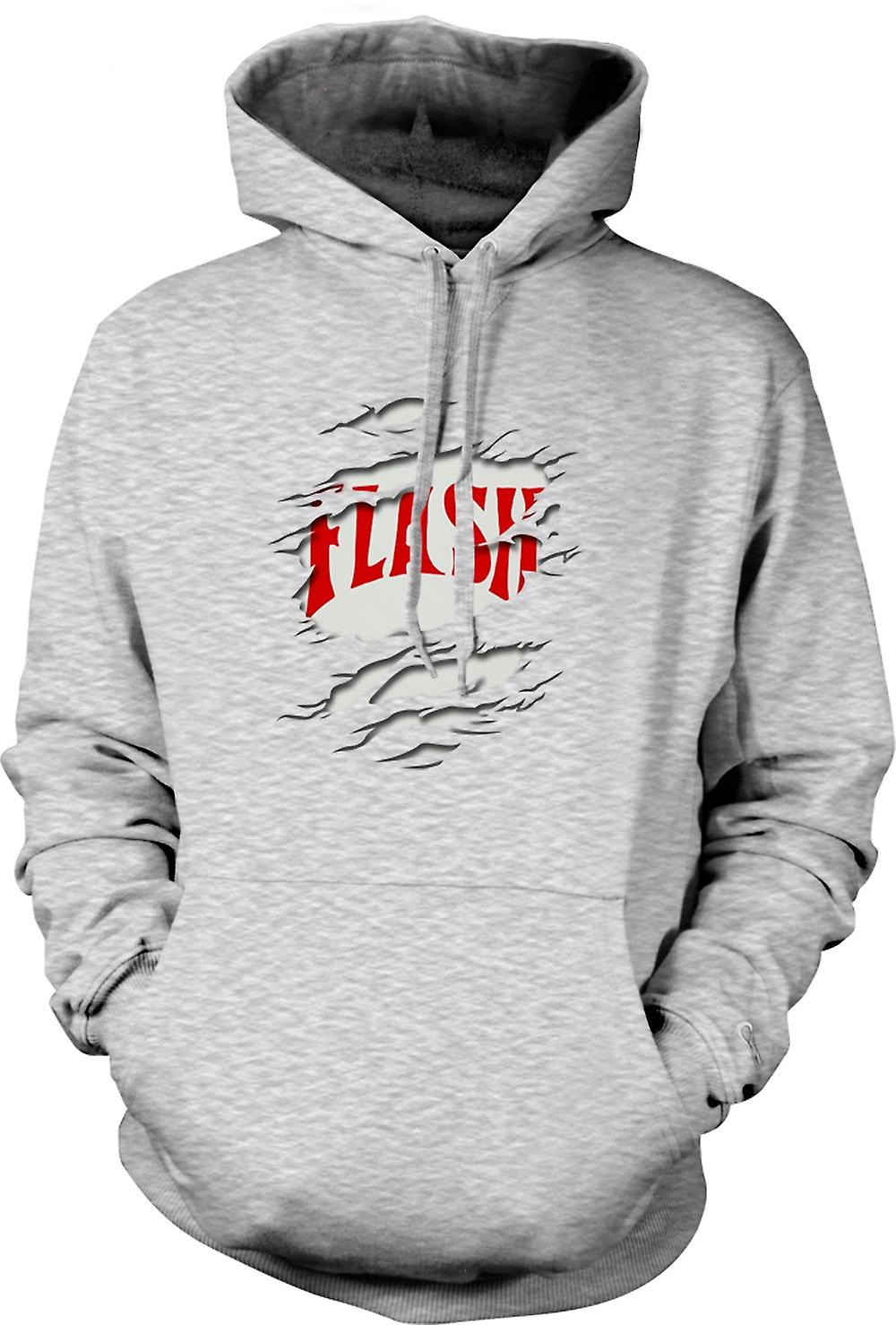 Mens Hoodie - Flash Gordon - Ripped Effect