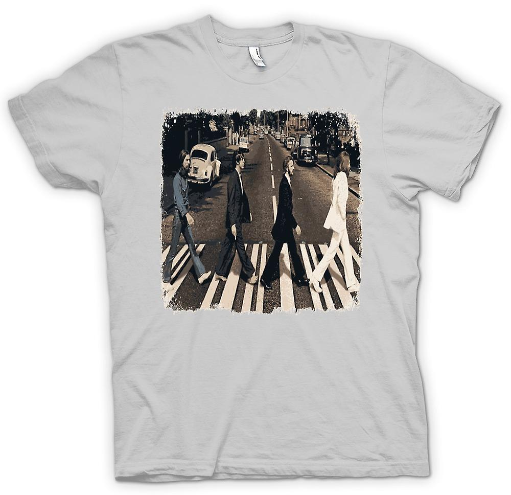 Mens t-skjorte - Beatles - Abbey Road - albumgrafikk