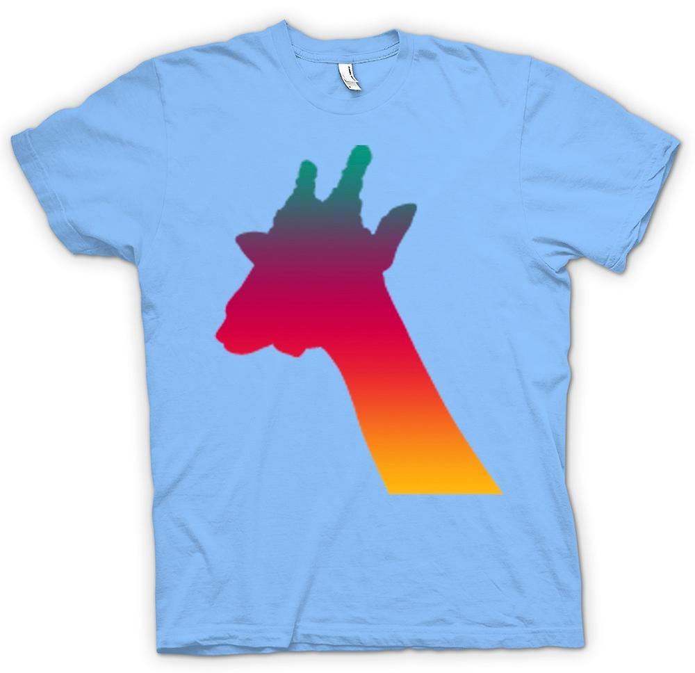 Hommes T-shirt - Rainbow Giraffe psychédélique Conception