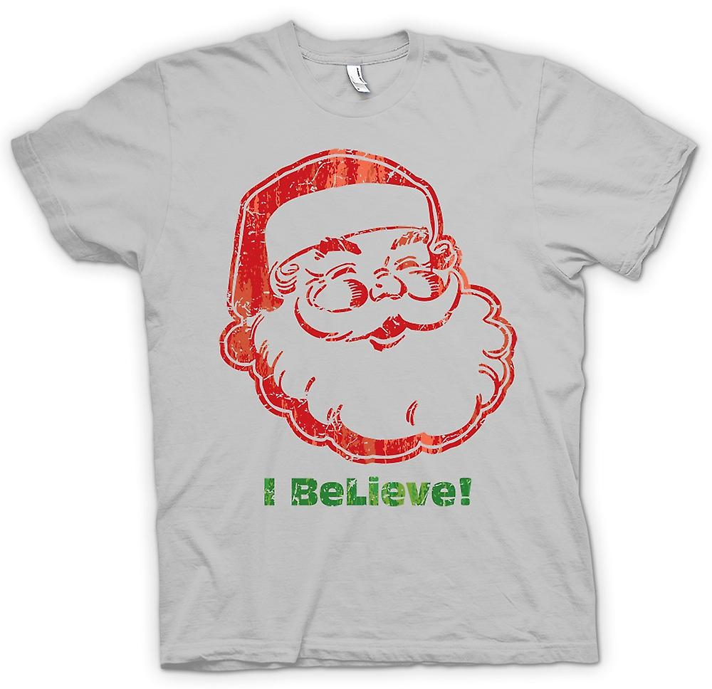 Mens T-shirt - Santa - I Believe