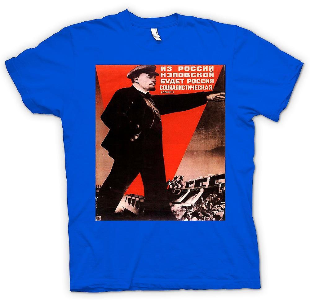 Hombres camiseta-cartel de Propoganda ruso Lenin